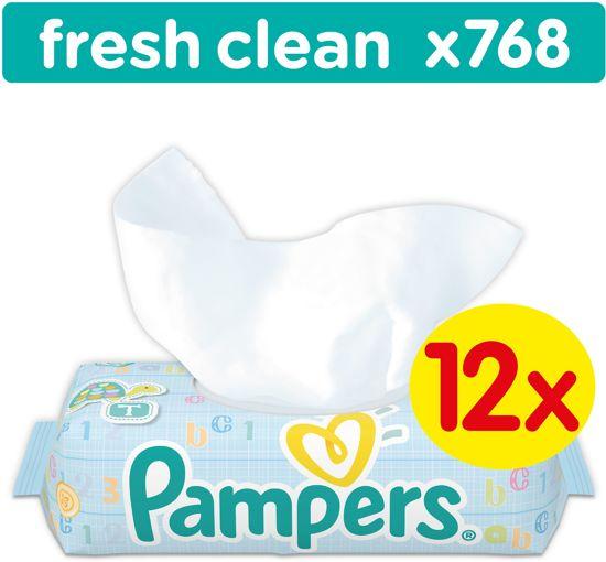 Pampers Fresh Clean - 768 Stuks (12x64) - Babydoekjes