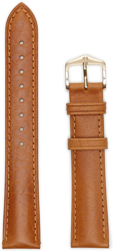 Hirsh Horlogeband -  Camelgrain Honey - Leer - 20mm