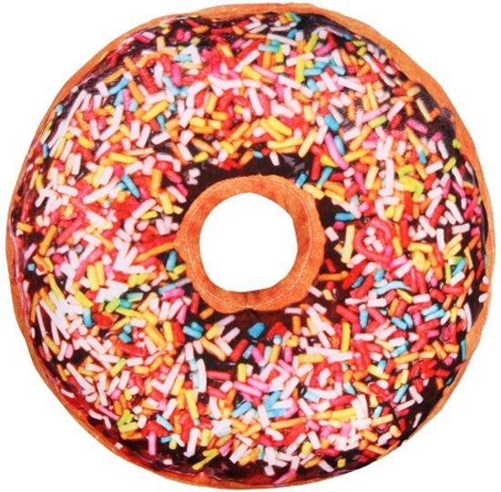 5be9ac1241fbae bol.com | Sprinkels donut kussen chocolade 40 cm, Merkloos | Speelgoed