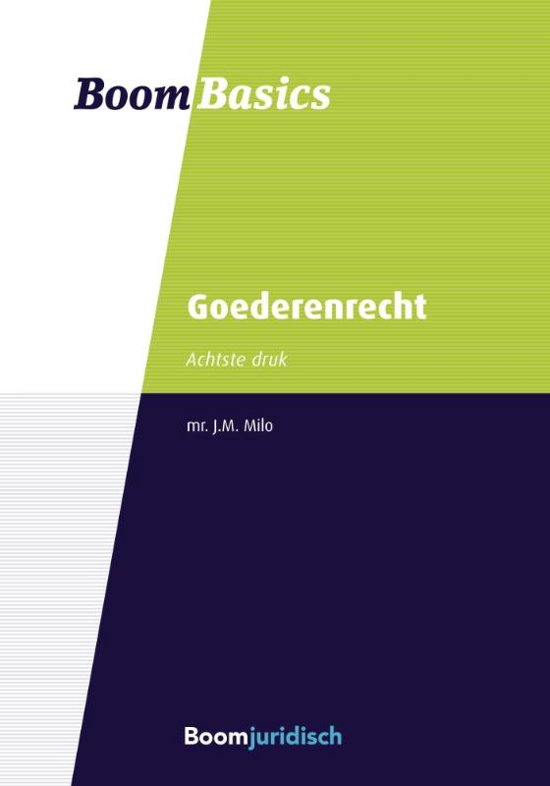 Boek cover Boom basics goederenrecht van J.M. Milo (Paperback)