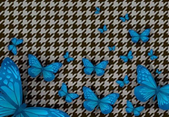Fotobehang Butterflies | M - 104cm x 70.5cm | 130g/m2 Vlies