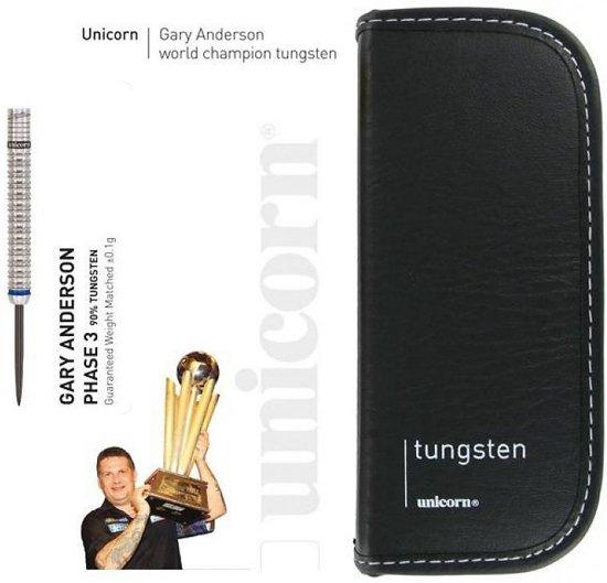 Unicorn Gary Anderson World Champion 90%  Tungsten Dartpijlen 21 gram - MET LEDEREN ETUI