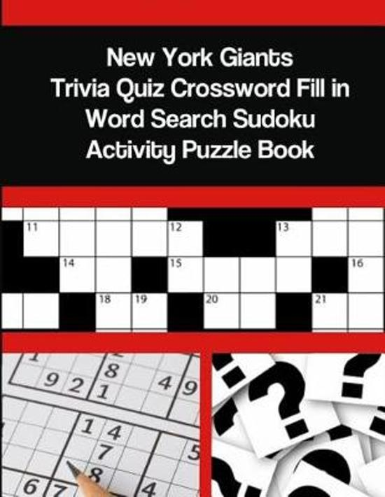 New York Giants Trivia Quiz Crossword Fill in Word Search Sudoku Activity Puzzle Book