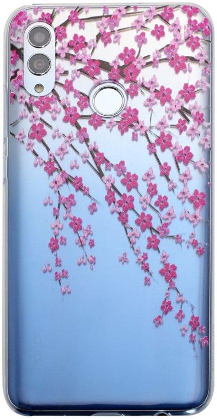 Honor 10 Lite Transparant Hoesje met Print Blossom Flower