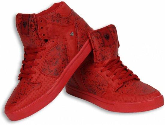 Cash Money Heren Schoenen - Heren Sneaker High - Touch Red Black - Maten: 40