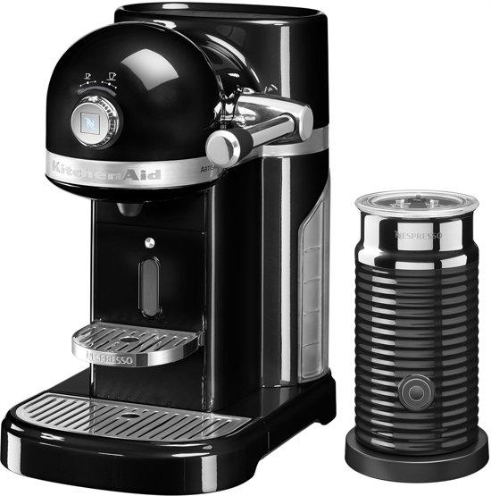 Nespresso KitchenAid Artisan 5KES0504EOB/3 + Melkopschuimer