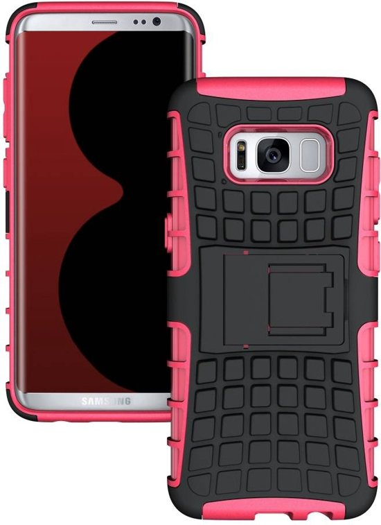 GSMWise - Samsung Galaxy S8 - Stevig Hybride Backcover Hoesje Shockproof - Roze in Meer