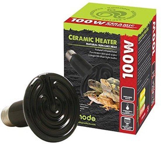 Komodo Keramiek Heat Emitter Zwart - 50 Watt