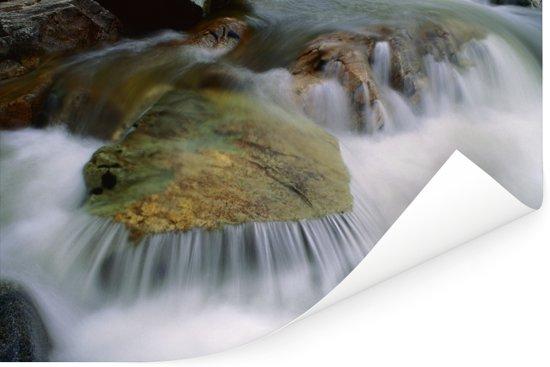 Watervallen in het Nationaal park Fundy in New Brunswick Poster 90x60 cm - Foto print op Poster (wanddecoratie woonkamer / slaapkamer)