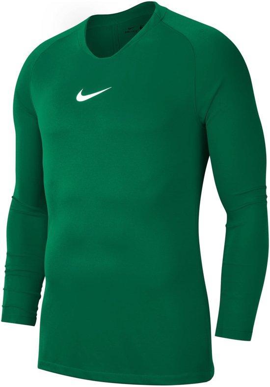 Nike Dry Park First Layer Longsleeve  Sportshirt - Maat 128  - Unisex - donker groen Maat S-128/140