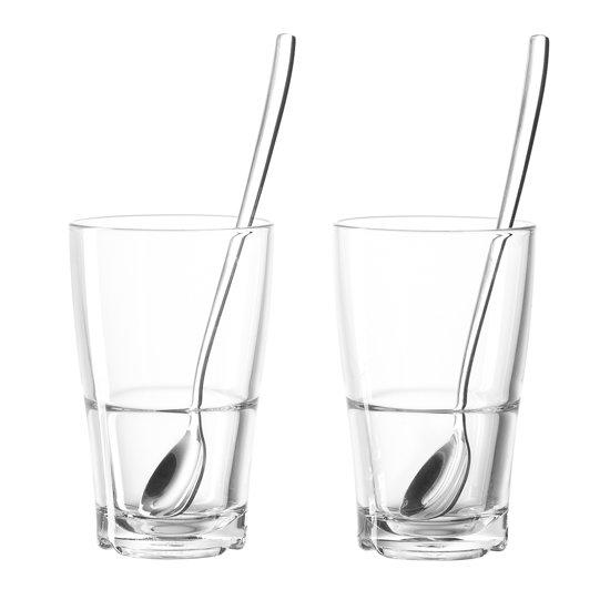 Leonardo Senso Latte Machiatto glazen - transparant - 4 delig