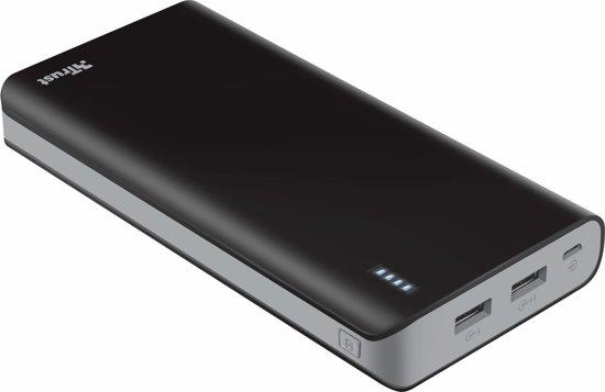 Trust Mobile Primo Powerbank - 20.000 mAh - 2x USB  - Zwart