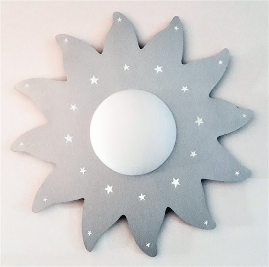 funnylight kinderlamp du soleil zon zilver - plafonniere