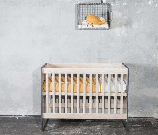 Cabino - Babykamer Dakota - 3-delige - Ledikant - Commode - Kledingkast - Grijs