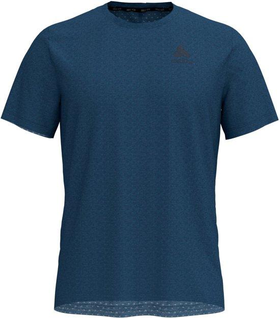 Odlo Bl Top Crew Neck S/S Millennium Linencool Sportshirt Heren - Ensign blue melange
