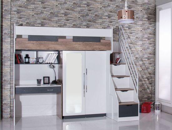 Bol compact kinderkamer voor kleine kamer hoogslaper bureau