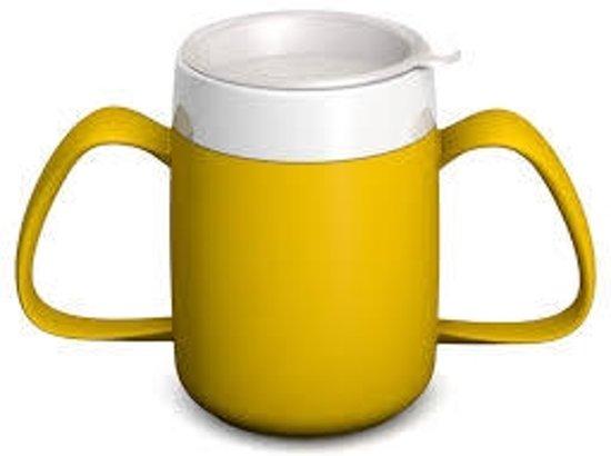 Isolerende beker met ergonomisch handvat  220 ml -2 handvatten-  geel