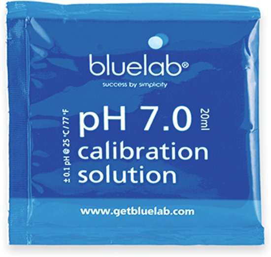 Bluelab, ijk vloeistof pH 7, 20 ml, doos 25st
