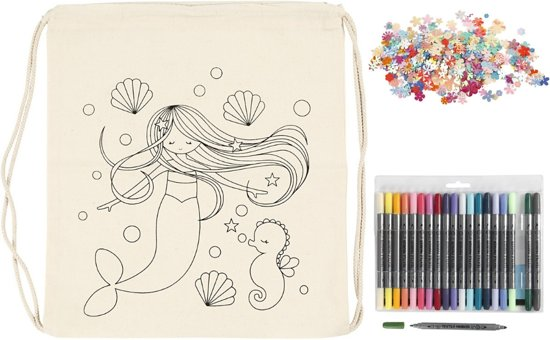 Kinderfeestje ; tas / rugzak kleuren (10 stuks)