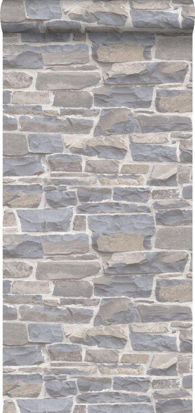 Esta Home Brooklyn Bridge Stenen muur lichtgrijs/beige