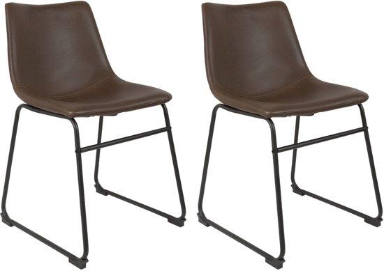bol | 24designs industriele stoelen brooke - vintage kunstleer