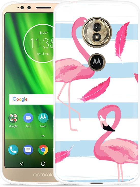 Moto G6 Play hoesje Flamingo Feathers