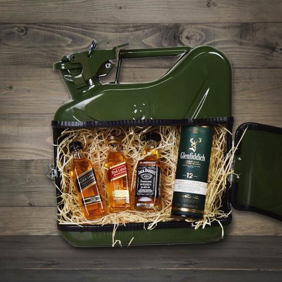 MikaMax - Jerrycan Whiskey Bar 5L - Groen - Whiskey flessen - Drank - Cadeau