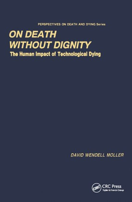 Boek cover On Death without Dignity van David Wendell Moller