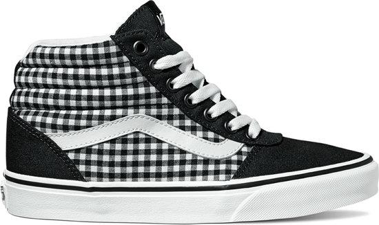 Vans Ward Platform Canvas Dames Sneakers BlackWhite Maat 38