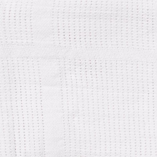 Babydan - Wiegdeken Katoen Gebreid 75X100 Cm - Wit