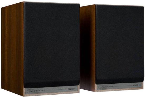 FonQ Monitor 100 - Boekenplank Luidspreker - Walnoot ( Per Paar )