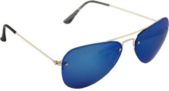 ae57d42a21142e Zonnebril Piloot Polariserend Glas Goud Blauw GRATIS Brillenkoker