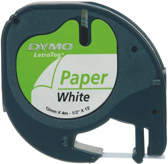 DYMO S0721510 Zwart op wit labelprinter-tape