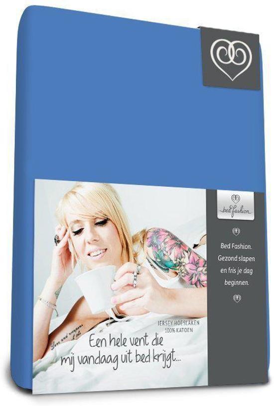 Bed-fashion jersey hoeslaken Medium Bleu - 100 x 200 cm - Medium Bleu