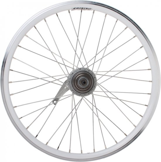 Shining Achterwiel 22 Inch Terugtraprem Staal 36g Wit