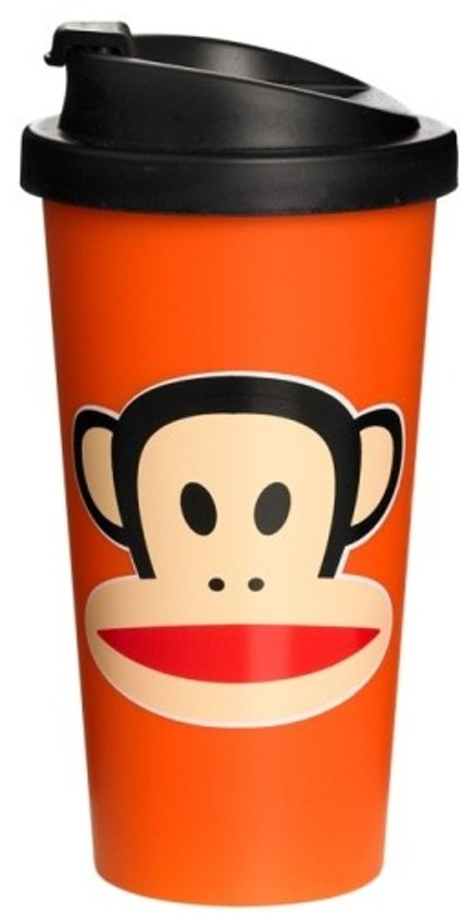 Paul Frank Drinkbeker - To Go - Incl Deksel - 500 ml - Oranje