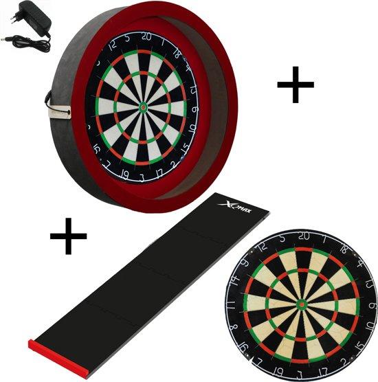 Dragon darts - Sorpresa PRO set - Rood-Zwart - dartbord - dartmat - dartbord verlichting