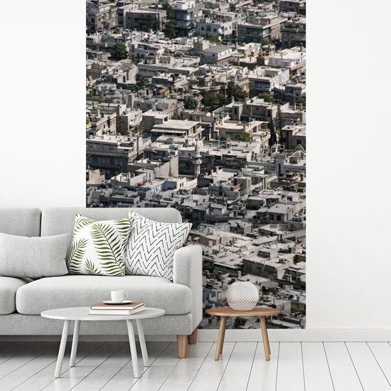 Fotobehang vinyl - Stadsbeeld van volgebouwd centrum Damascus in Syrië breedte 235 cm x hoogte 360 cm - Foto print op behang (in 7 formaten beschikbaar)