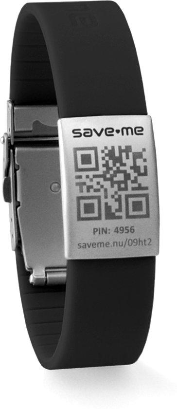 Armband zwart + gratis Premium SOS profiel
