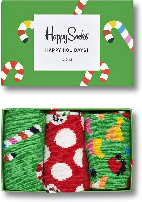 Happy Socks Kids Holiday Candy Giftbox - Maat 12-24 maanden