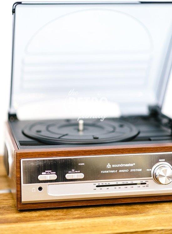 Soundmaster PL 186 - Platenspeler - Hout/Zwart