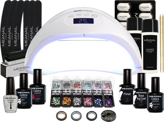 Gel nagellak Set DELUXE - MEANAIL® Paris - Nail Art - Gellak Gelpolish met UV lamp - Compleet pakket met 30 accessoires
