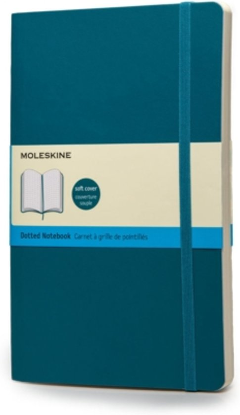 Moleskine Notebook - Large - Dotted - Underwater Blue - Soft cover