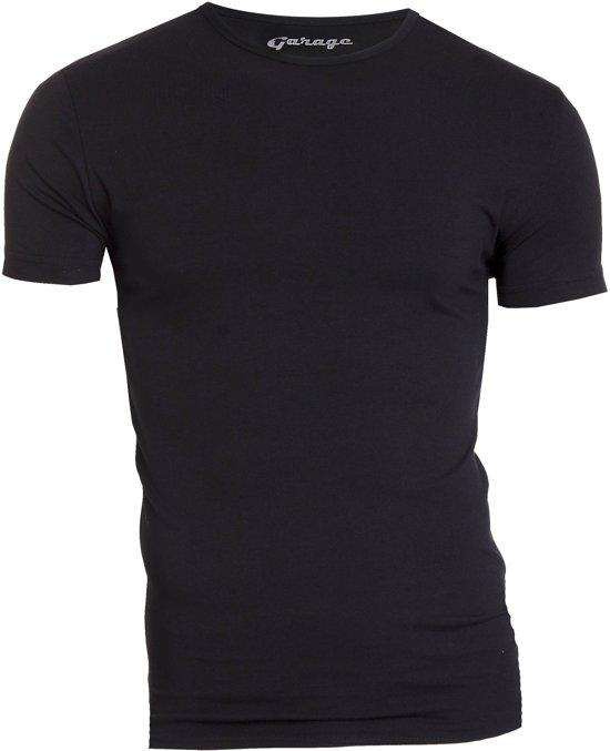 Garage Bodyfit R-Neck T-Shirt Zwart Heren Size : XL