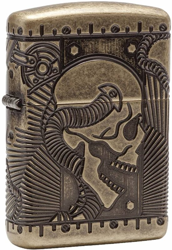 Zippo Armor Case Carved Skull Special Edition