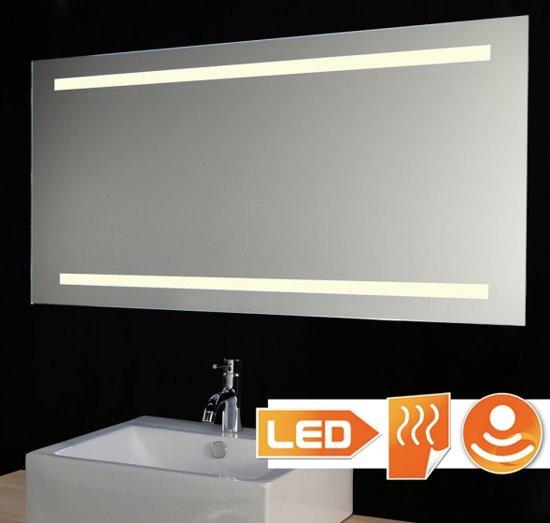 bol.com | Badkamerspiegel met LED verlichting spiegelverwarming en ...