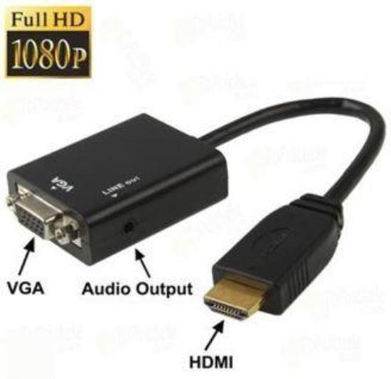 EverTech HDMI to VGA Converter with Audio (1080P)