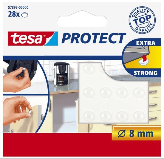 Tesa - 57898 - Geluiddemper Rond - Transparant - Ø 8 mm - 28 Stuks
