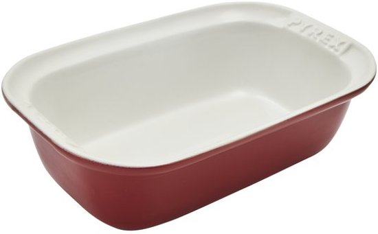 Pyrex Impressions Deep Red Collection Ovenschaal - 26 x 17 cm
