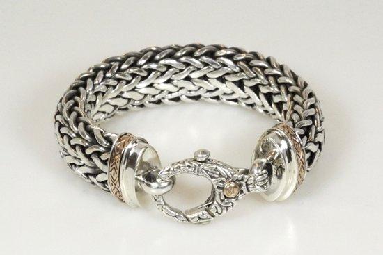 Zilveren armband, Snake Chain Gold Ed